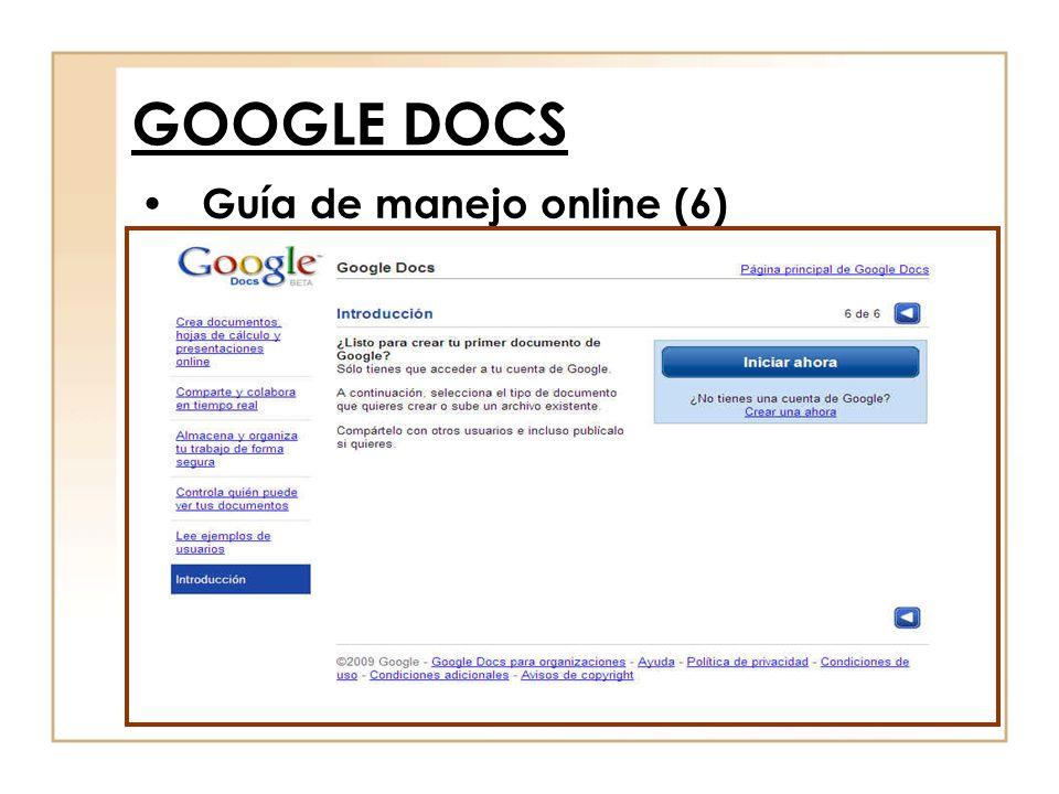 Guía de manejo online (6) GOOGLE DOCS
