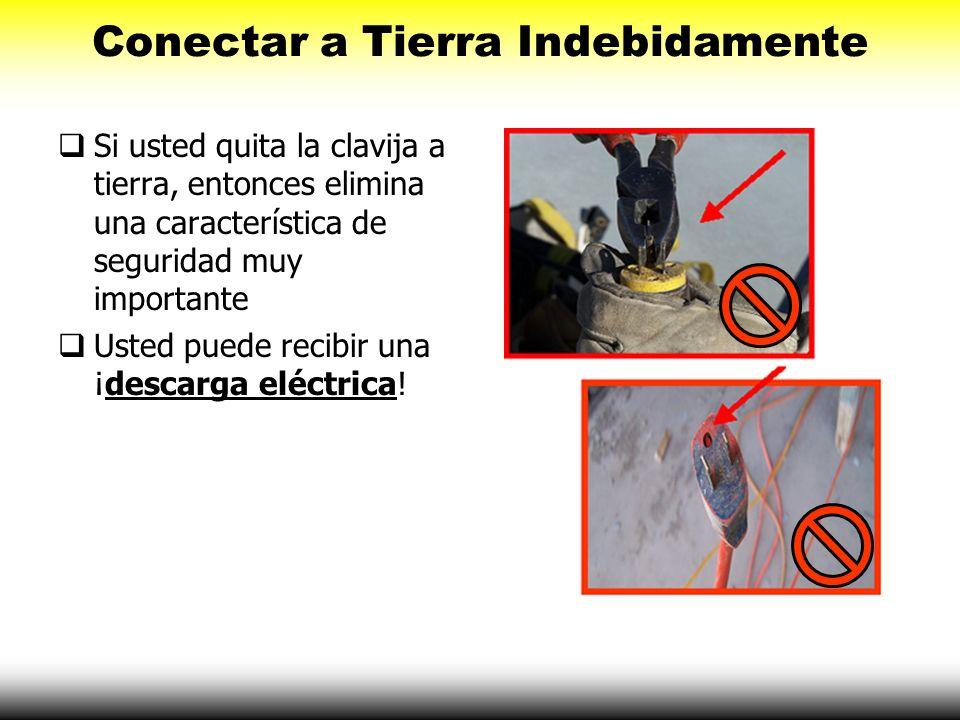 Si usted quita la clavija a tierra, entonces elimina una característica de seguridad muy importante Usted puede recibir una ¡descarga eléctrica! Conec