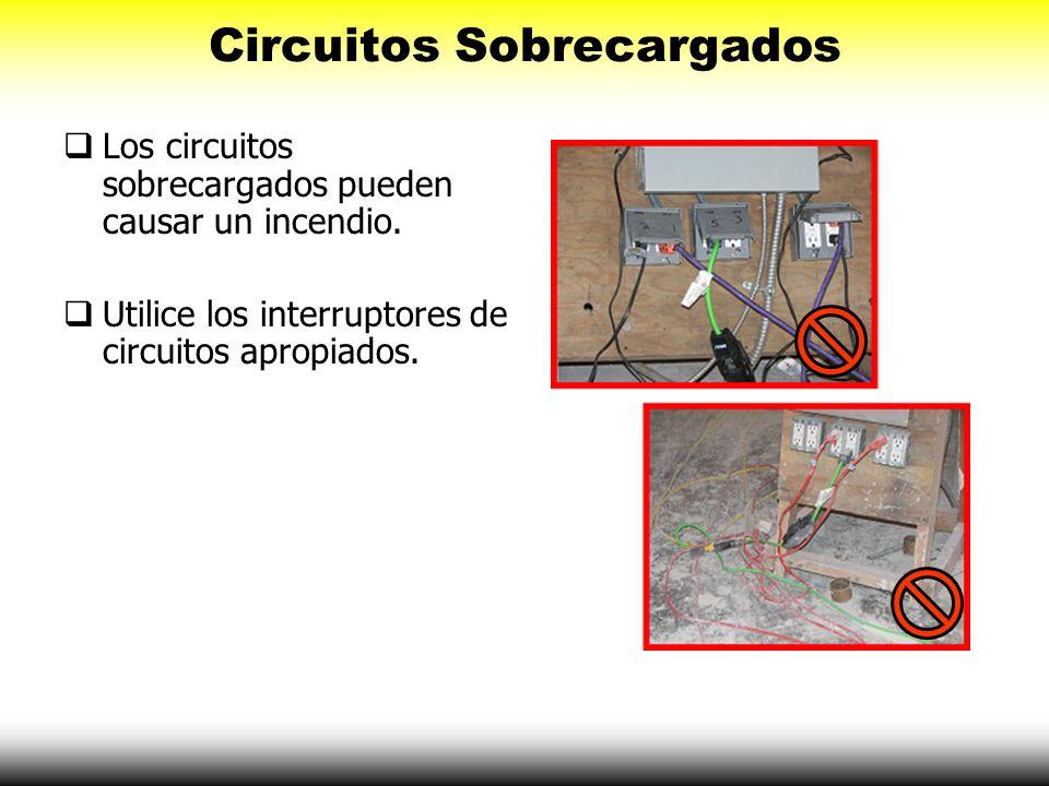 Circuitos Sobrecargados Los circuitos sobrecargados pueden causar un incendio. Utilice los interruptores de circuitos apropiados.
