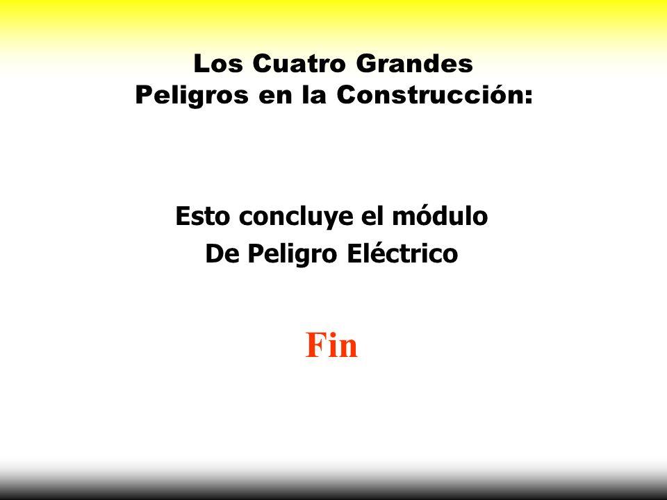 Los Cuatro Grandes Peligros en la Construcción: Esto concluye el módulo De Peligro Eléctrico Fin