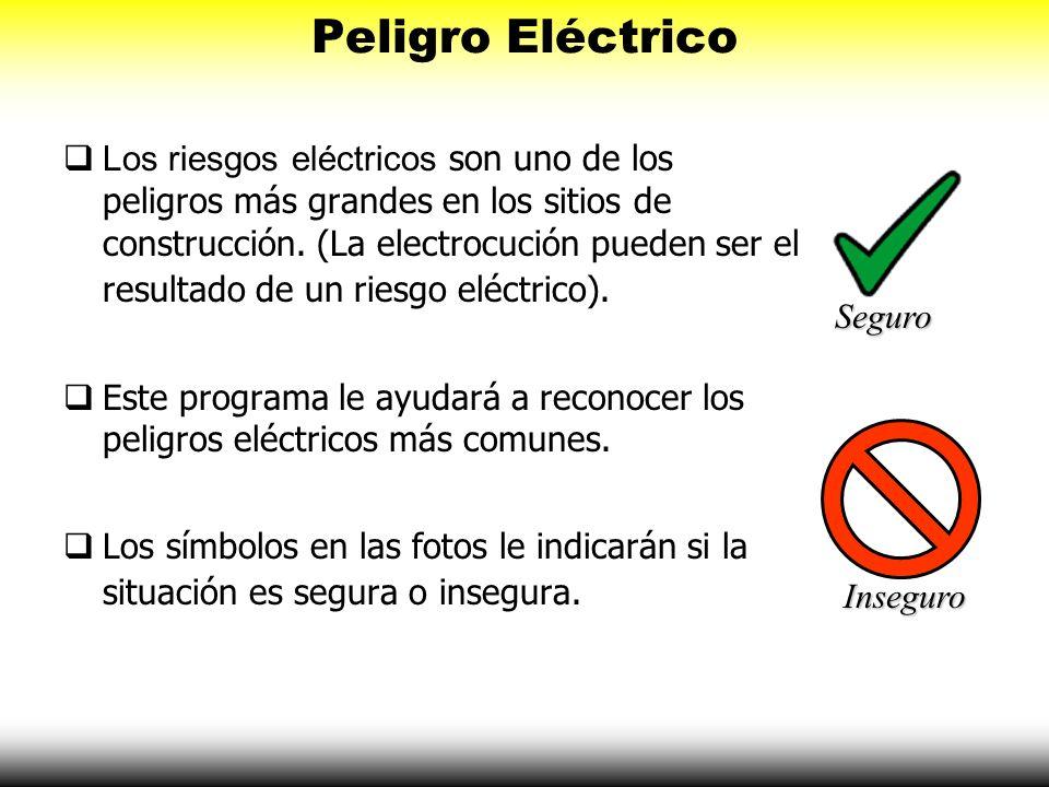 Los riesgos eléctricos son uno de los peligros más grandes en los sitios de construcción. (La electrocución pueden ser el resultado de un riesgo eléct