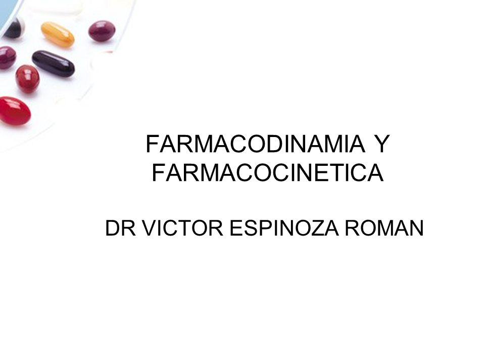 FARMACODINAMIA Y FARMACOCINETICA DR VICTOR ESPINOZA ROMAN