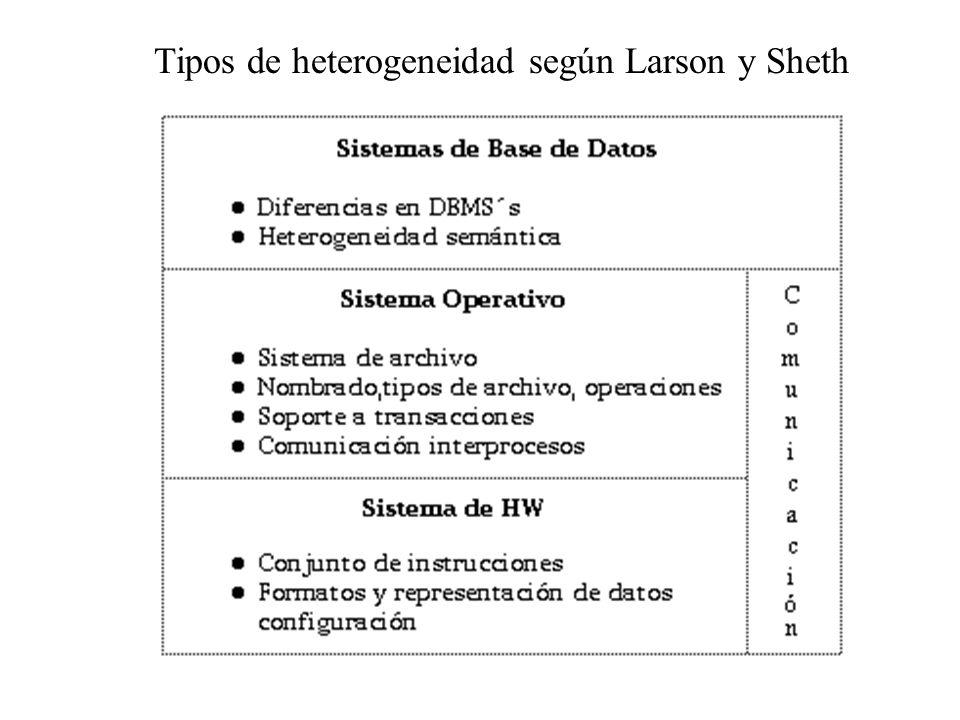 Tipos de heterogeneidad según Larson y Sheth