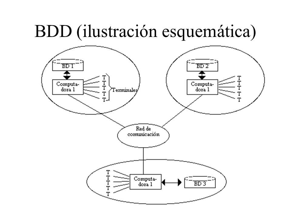 La heterogeneidad debida a diversos DBMSs es común en organizaciones que crecen sin una planeación en cuanto a sus sistemas de información.