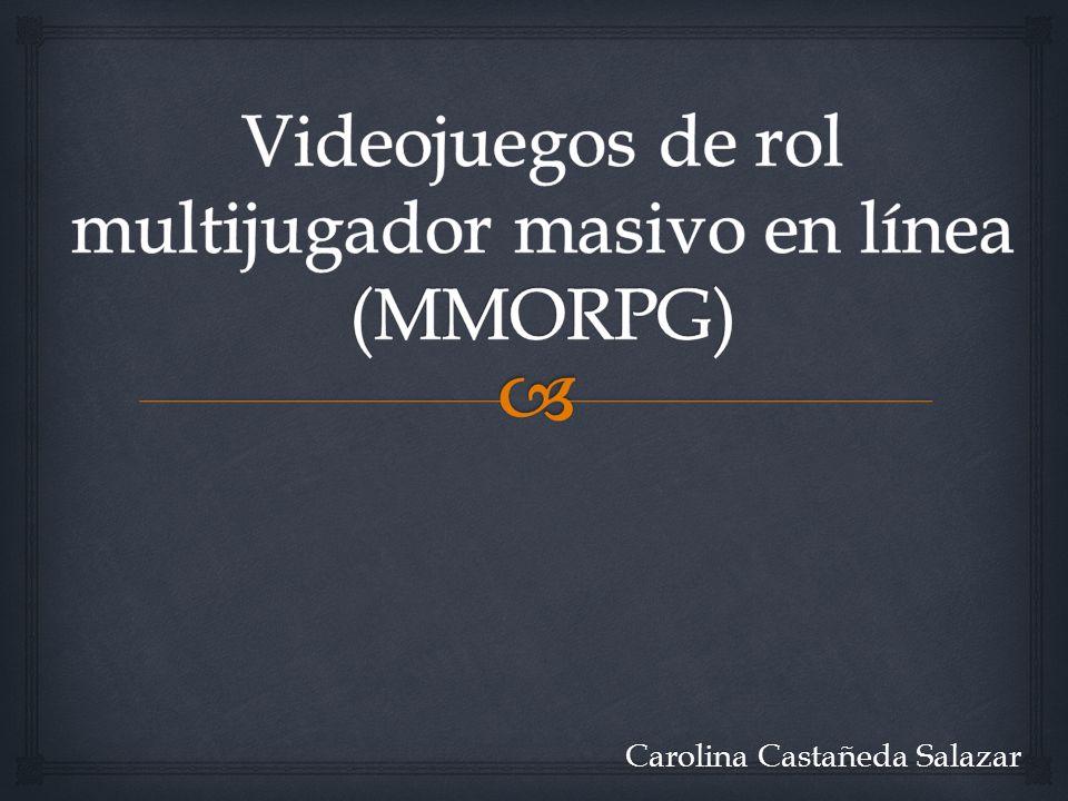 Son videojuegos herederos de los MUD o videojuegos en línea no gráficos A finales de la década de 1970 Plato System desarrolló Moria Historia Carolina Castañeda