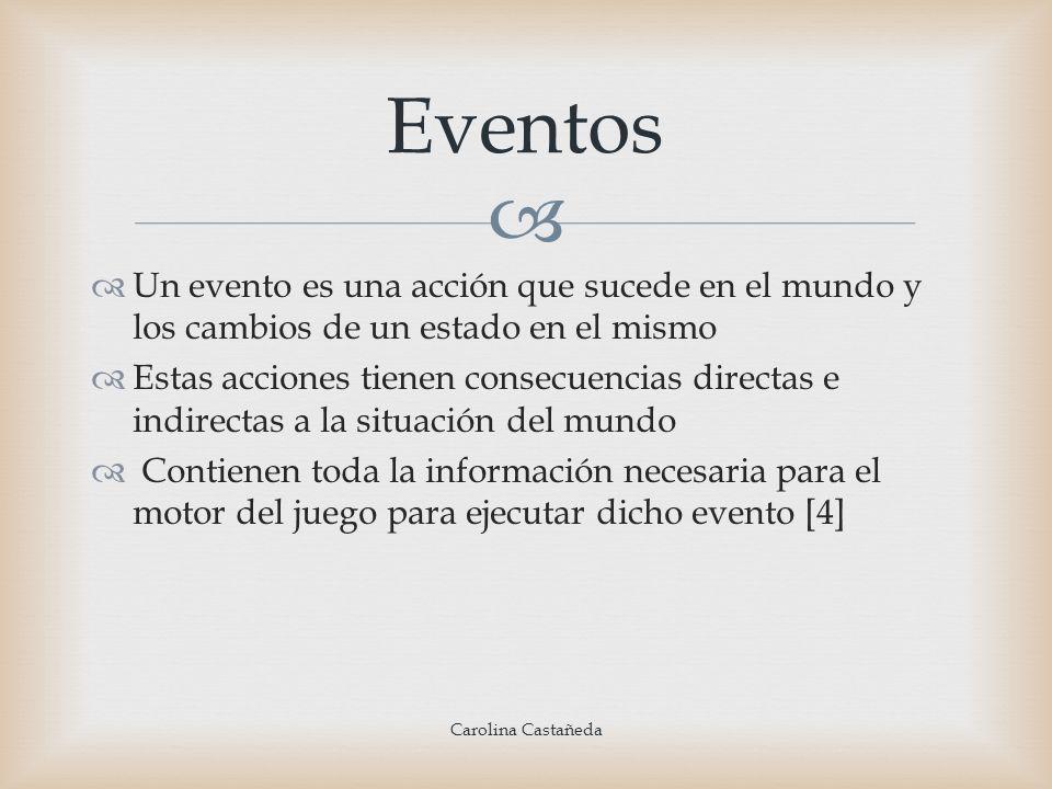 Un evento es una acción que sucede en el mundo y los cambios de un estado en el mismo Estas acciones tienen consecuencias directas e indirectas a la s
