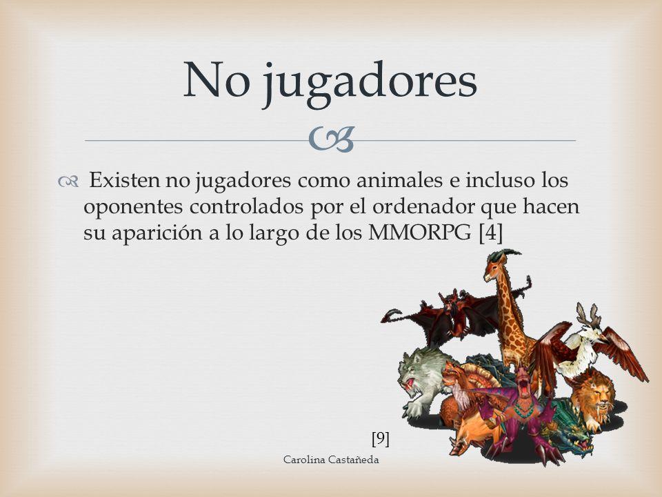 No jugadores Carolina Castañeda Existen no jugadores como animales e incluso los oponentes controlados por el ordenador que hacen su aparición a lo la