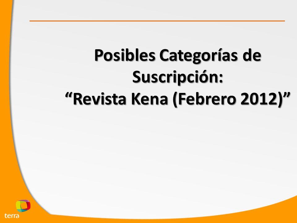 Posibles Categorías de Suscripción: Revista Kena (Febrero 2012)