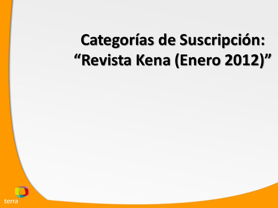 Categorías de Suscripción: Revista Kena (Enero 2012)