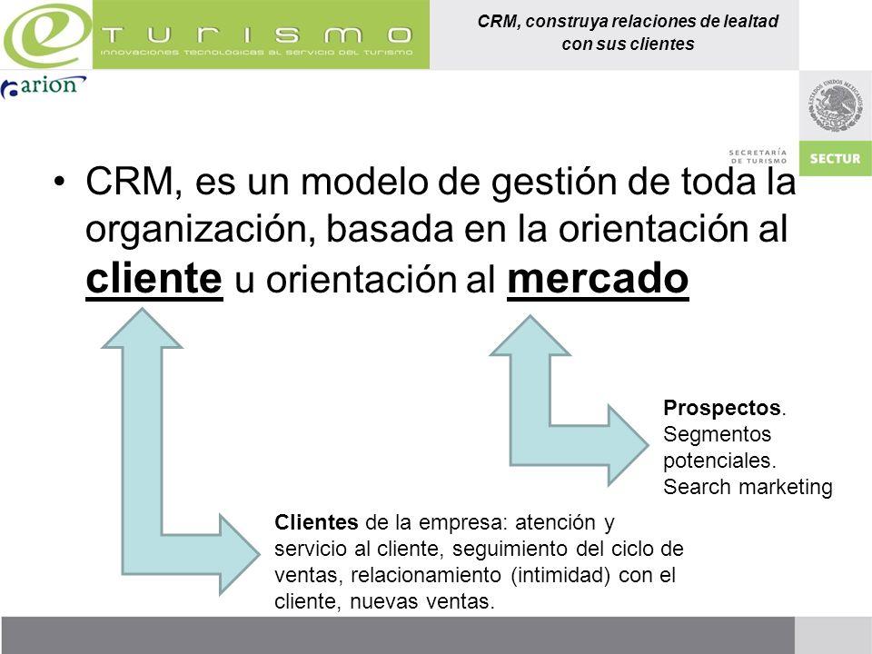 CRM, construya relaciones de lealtad con sus clientes CRM, es un modelo de gestión de toda la organización, basada en la orientación al cliente u orie