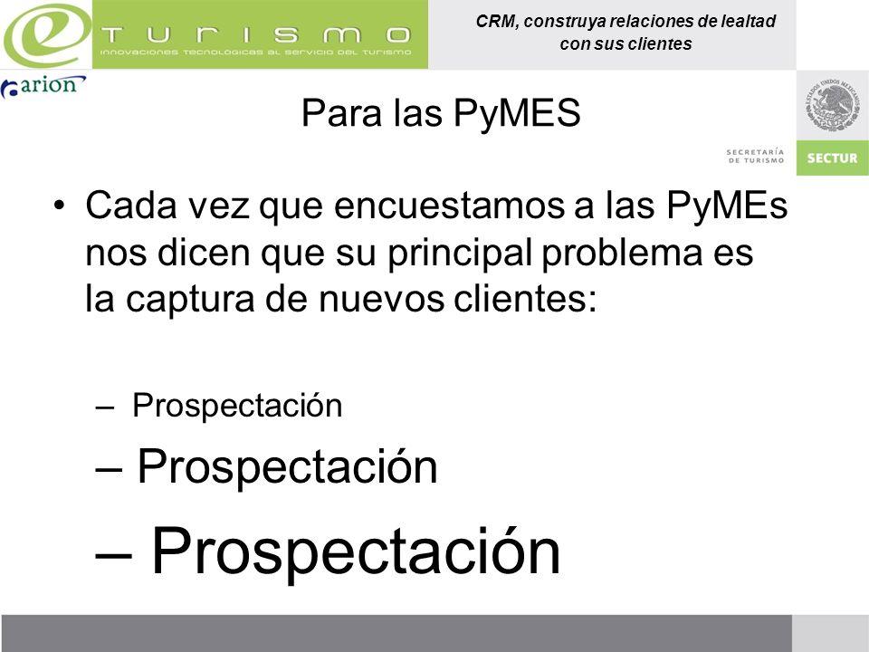 CRM, construya relaciones de lealtad con sus clientes Para las PyMES Cada vez que encuestamos a las PyMEs nos dicen que su principal problema es la ca