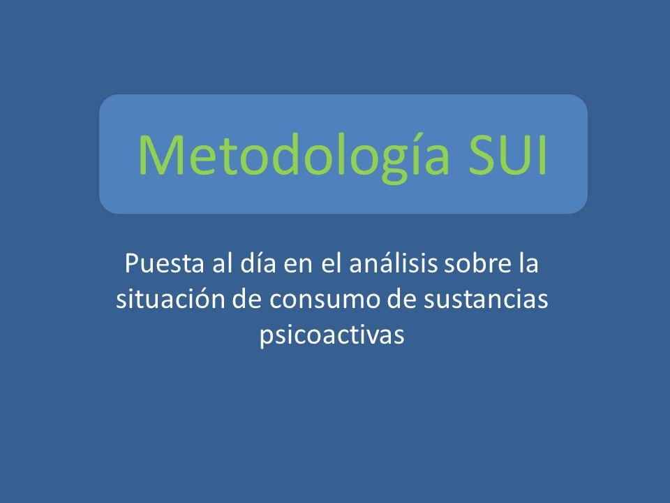 Puesta al día en el análisis sobre la situación de consumo de sustancias psicoactivas Metodología SUI