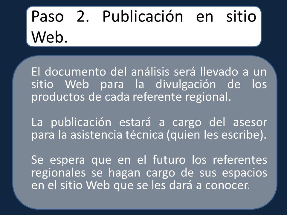 Paso 2. Publicación en sitio Web.