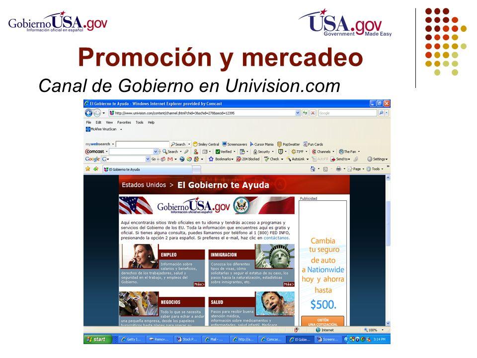 Canal de Gobierno en Univision.com