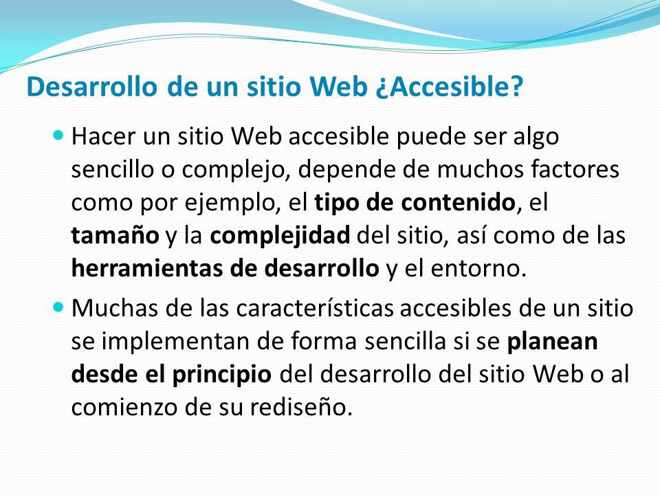 Desarrollo de un sitio Web ¿Accesible.