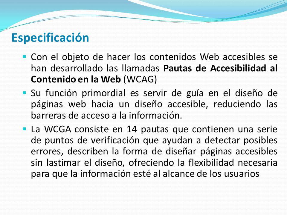 Pautas de Accesibilidad al Contenido en la Web (WCAG) 1.