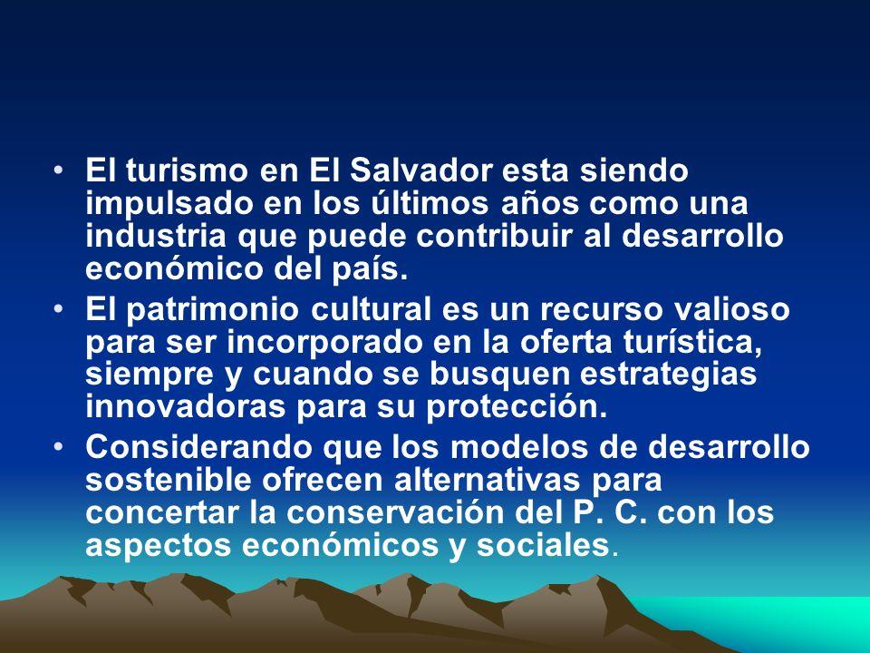 Principales antecedentes normativos e institucionales del turismo en El Salvador La historia alrededor del turismo en El Salvador, registra varios momentos: 1961 el interés del Estado salvadoreño por impulsar el turismo con la creación del Instituto Nacional de Turismo (ISTU), en enfocada de forma especial en la promoción del turismo local En 1961 mediante el decreto 469, el Directorio Cívico Militar de El Salvador, creó el Instituto Salvadoreño de Turismo (ISTU), en 1961, enfocada de forma especial en la promoción del turismo local ; 1967, se crea la Ley de Fomento de la Industria Turística[1 ];[1 ]
