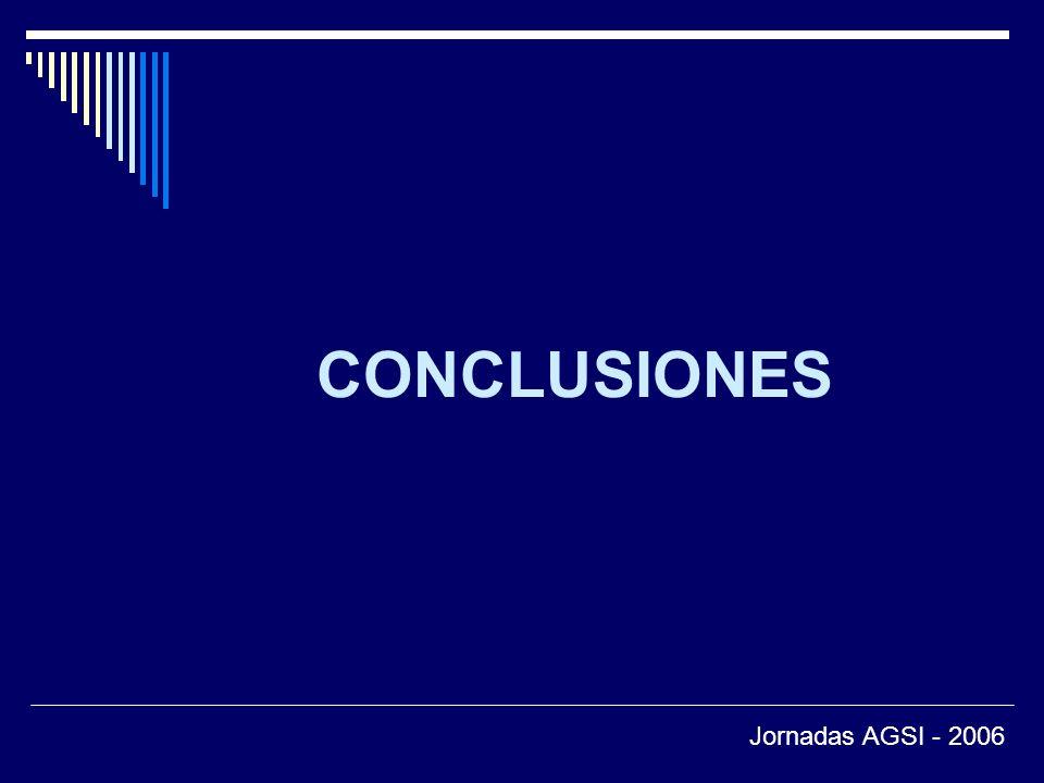 CONCLUSIONES Jornadas AGSI - 2006