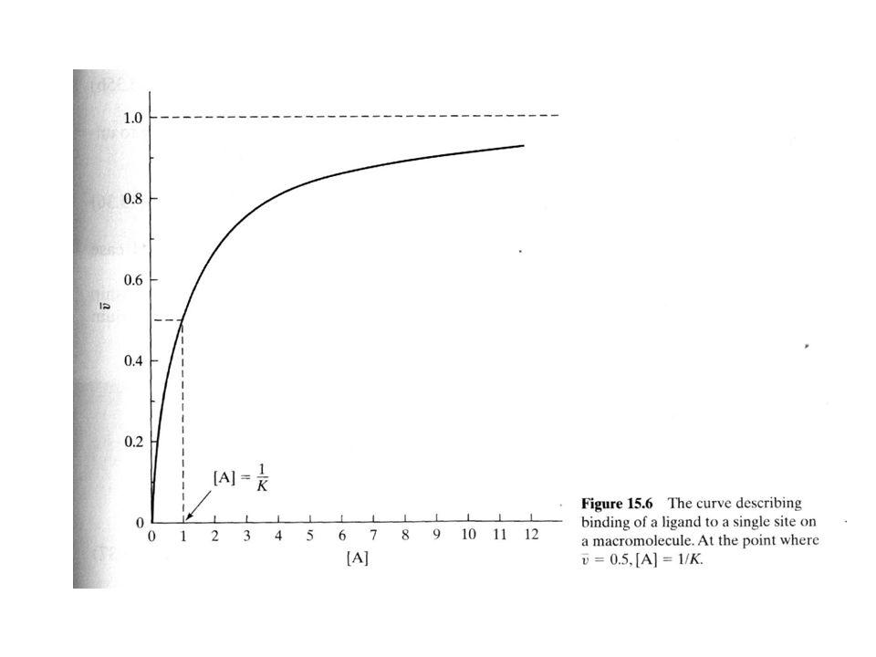 Proteína = P Ligando = A P + A PA K = [PA]/ [P][A] K = constante de equilibrio de asociación K`= constante de equilibrio de disociación = 1/K [PA]= concentración del complejo proteína-ligando [P]= concentración de proteína (no acomplejada) [A]= concentración de ligando libre