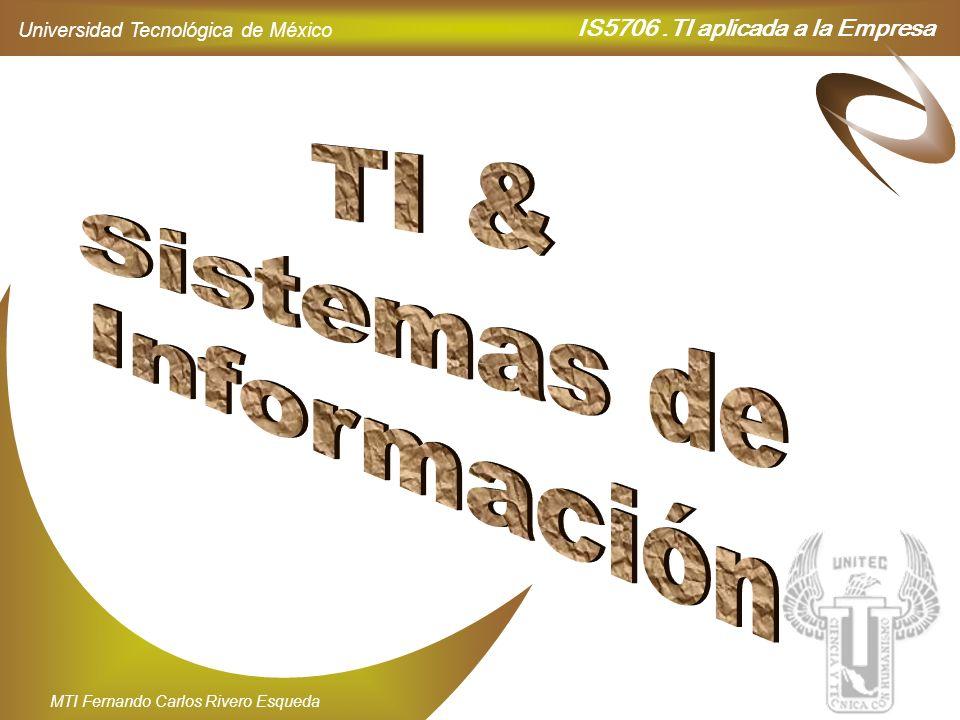 IS5706.TI aplicada a la Empresa Universidad Tecnológica de México MTI Fernando Carlos Rivero Esqueda