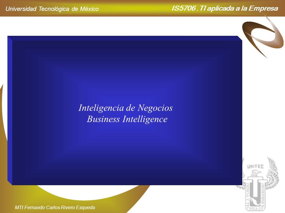 IS5706.TI aplicada a la Empresa Universidad Tecnológica de México MTI Fernando Carlos Rivero Esqueda Datos N 3,450 S - 235 E 2,873 O 476 BM 2,500 CB 4