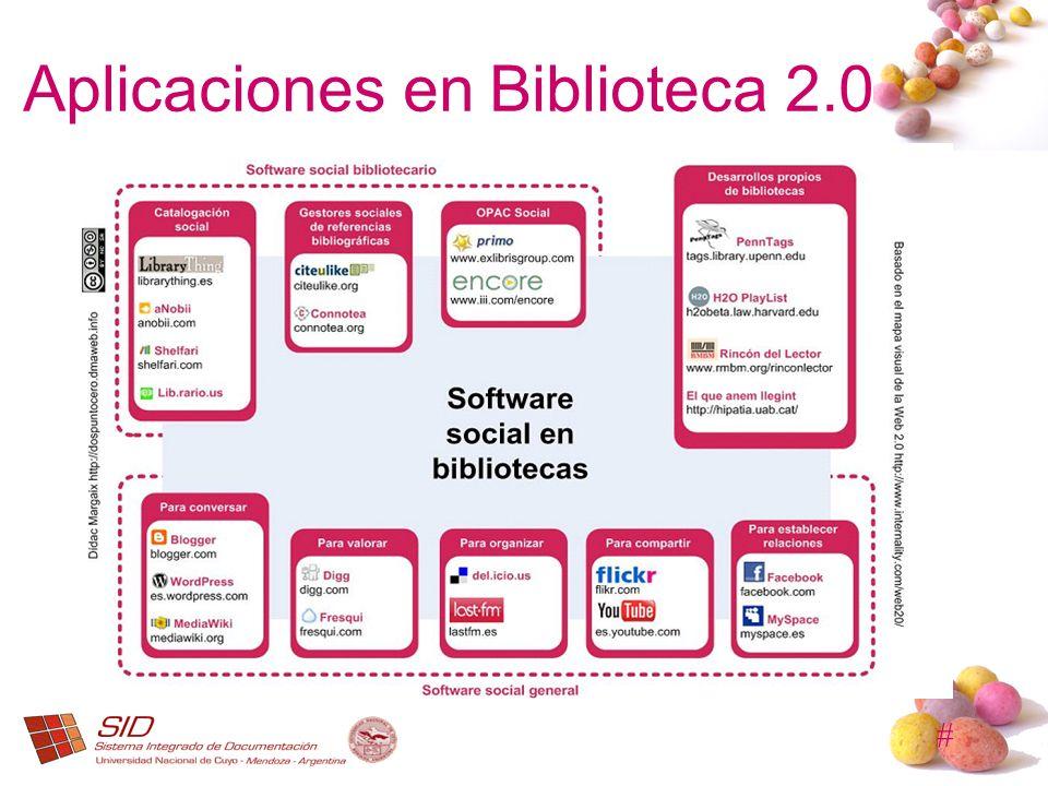 # Aplicaciones en Biblioteca 2.0