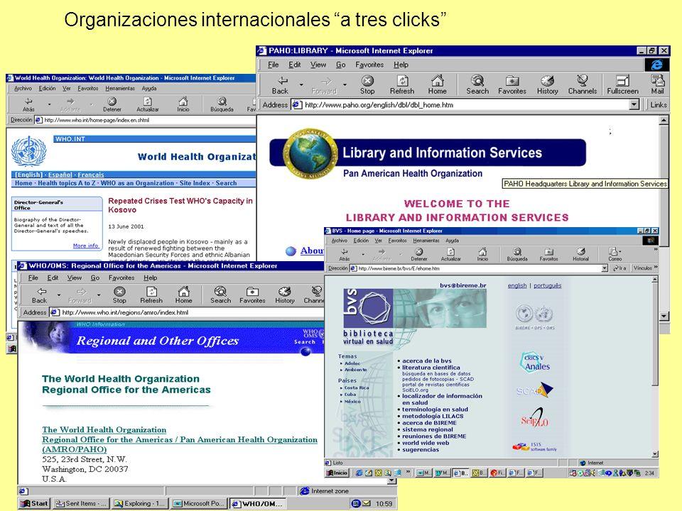 Organizaciones internacionales a tres clicks