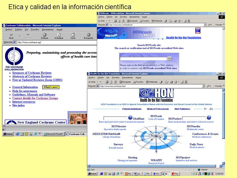 Etica y calidad en la información científica