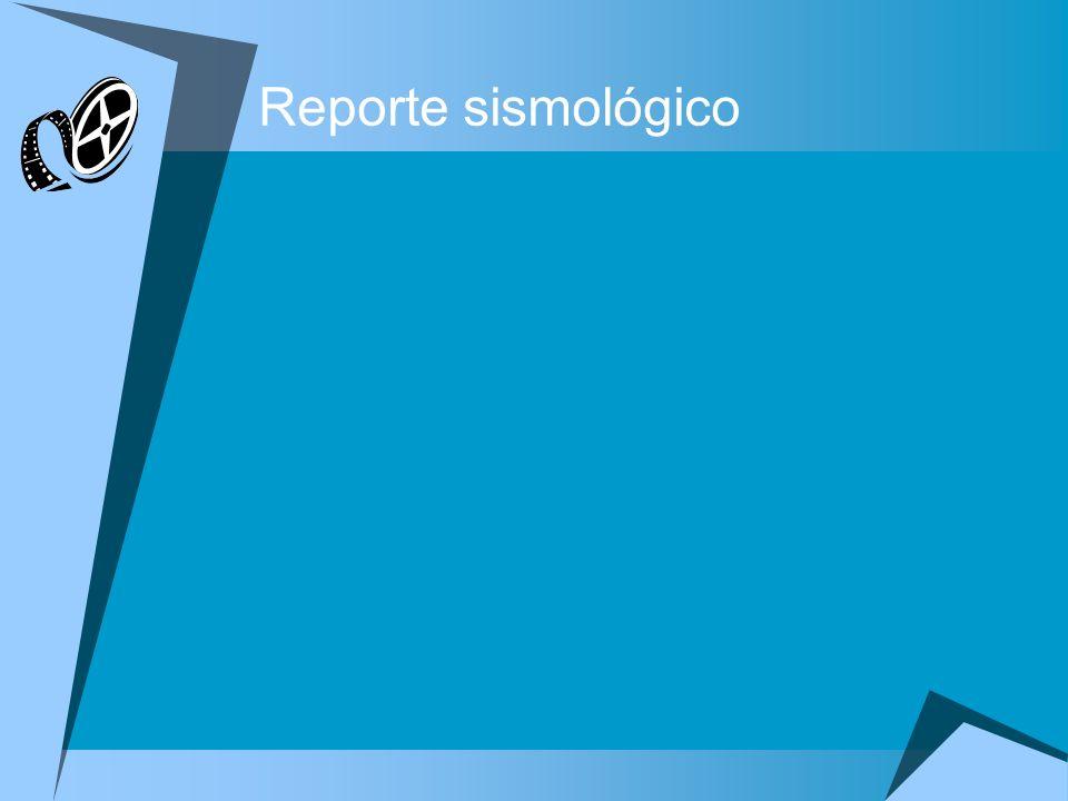Reporte sismológico Complete las tareas siguientes a fin de modificar la presentación: 1.En la diapositiva dos, Reporte sismológico, aplique el diseño Título y texto a dos columnas, y defina las opciones del punto de ancla de texto para el marcador de sitio de la derecha al medio.