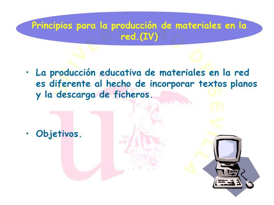 Flexibilidad. Hipertextualidad Y participación del usuario. Principios para la producción de materiales en la red.(III)