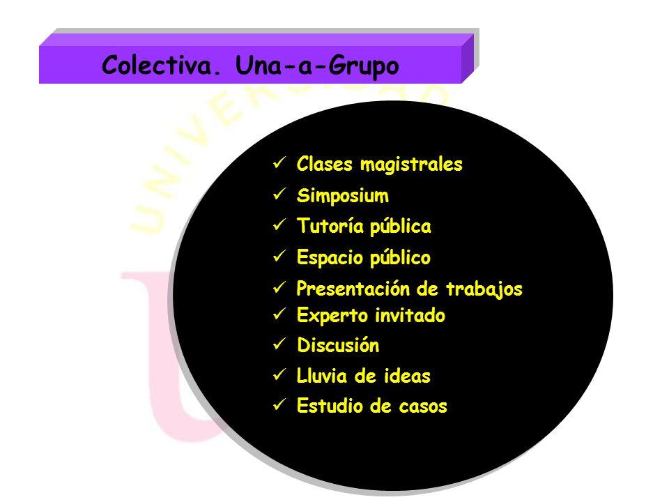 Individualización. Una-a-una Contratos de aprendizaje Ayudante Tutoría individual: Corrección de tareas. Asesoramiento. Guía. Entrevistas. Entrevistas