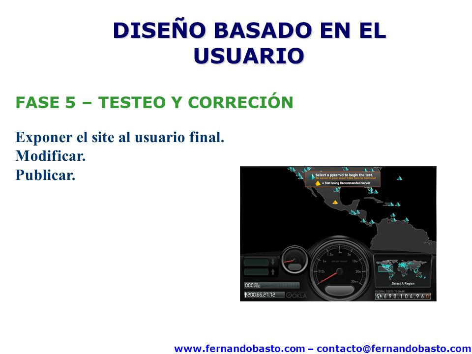 www.fernandobasto.com – contacto@fernandobasto.com FASE 5 – TESTEO Y CORRECIÓN Exponer el site al usuario final.