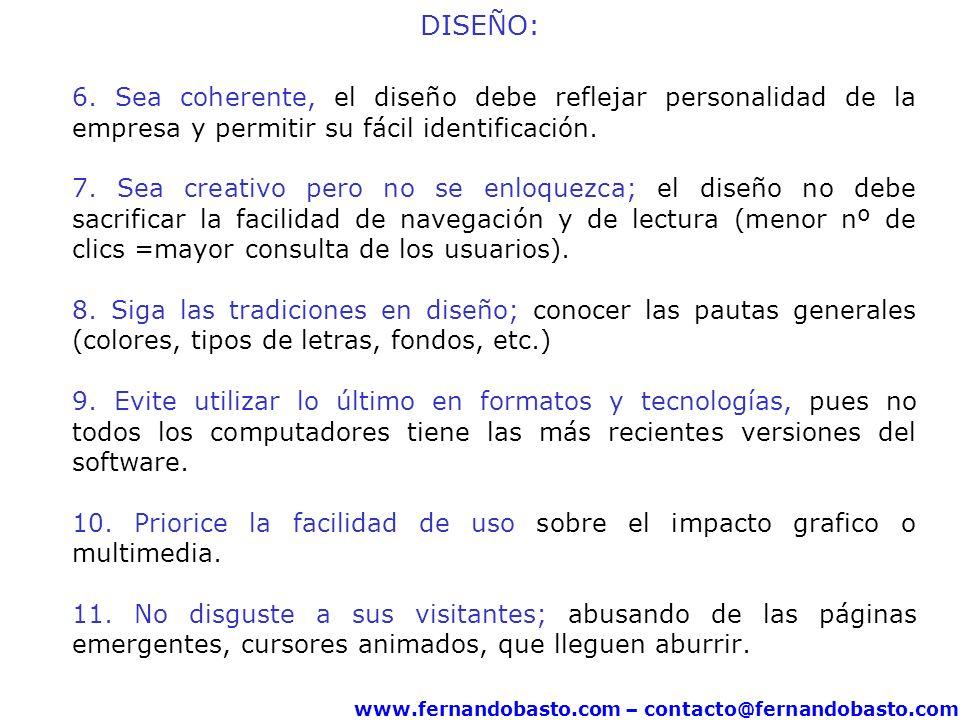 www.fernandobasto.com – contacto@fernandobasto.com DISEÑO: 6.
