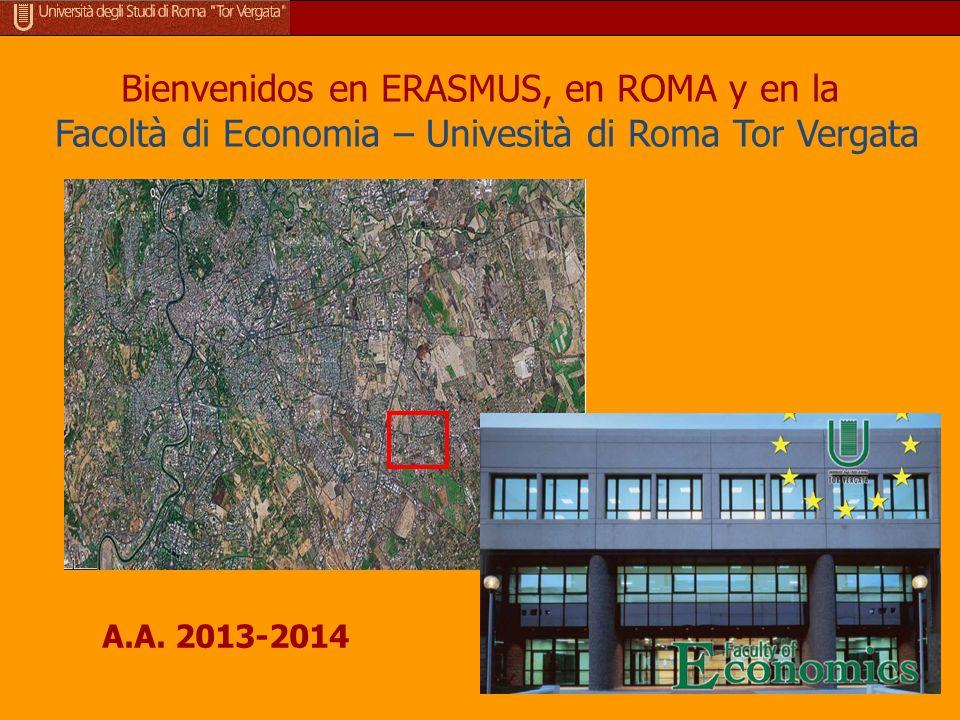 Ubicación (¿han llegados todos?) La Facultad de Economía se encuentra en la calle Columbia 2, más allá de la carretera de circunvalación entre la carretera Roma-Nápoles y la via Casilina.