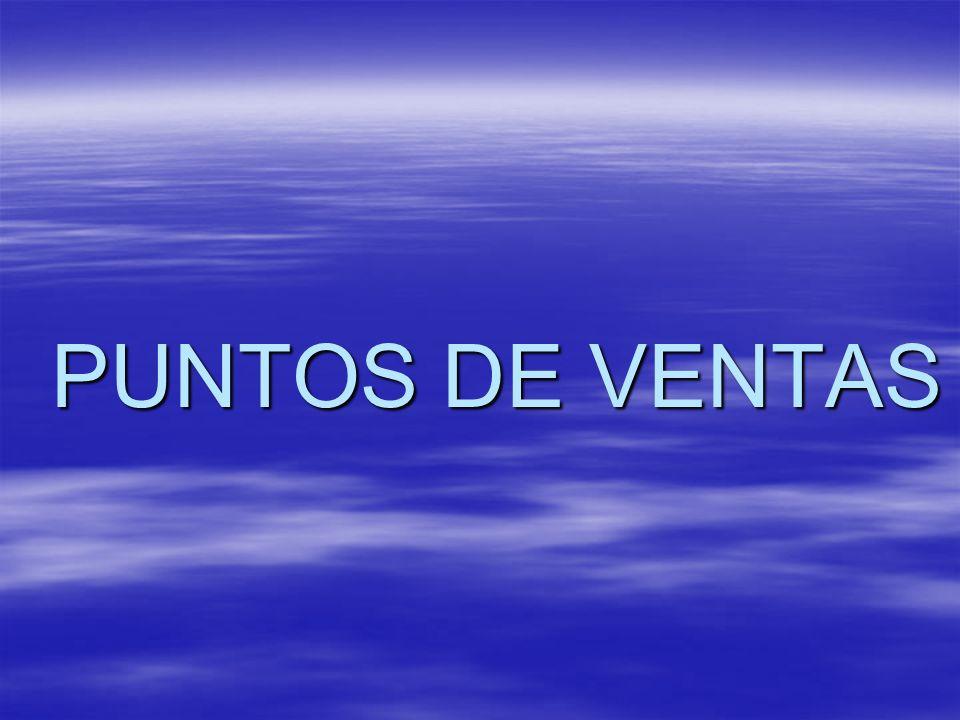 PUNTOS DE VENTAS