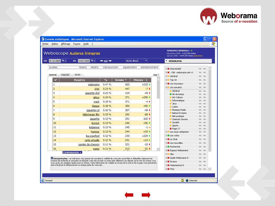 - Analice el perfil de sus internautas gracias al módulo de «segmentación a medida».