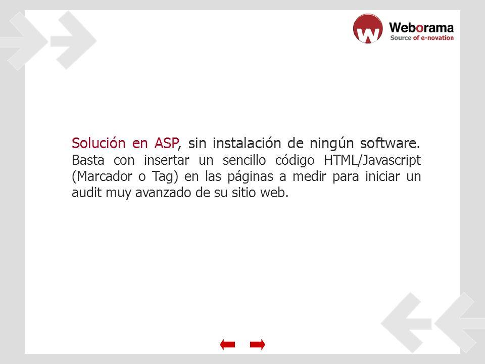 Solución en ASP, sin instalación de ningún software.