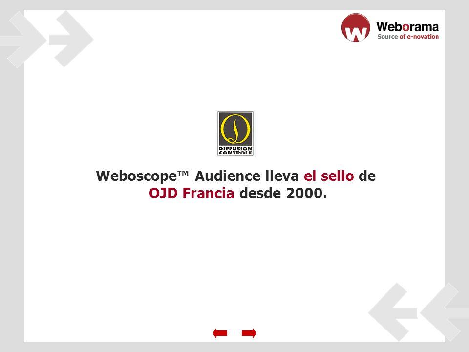 Weboscope Audience lleva el sello de OJD Francia desde 2000.