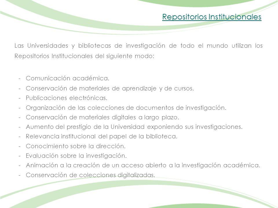 Repositorios Institucionales - Comunicación académica.