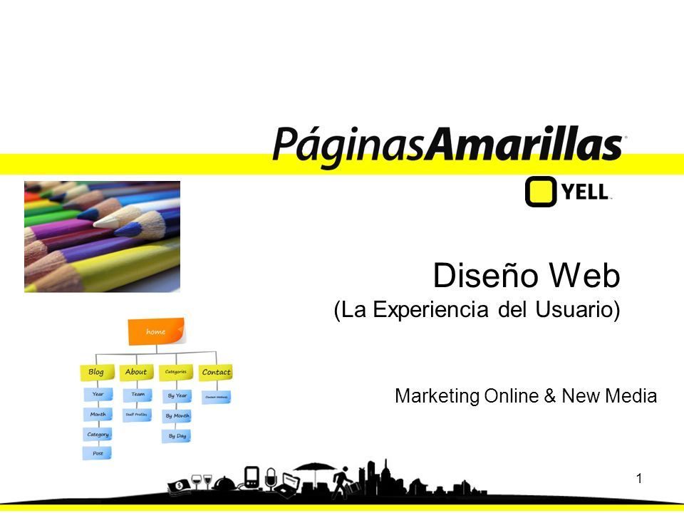 1 Diseño Web (La Experiencia del Usuario) Marketing Online & New Media
