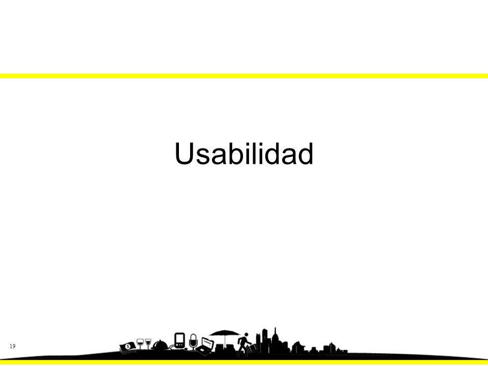 19 Usabilidad
