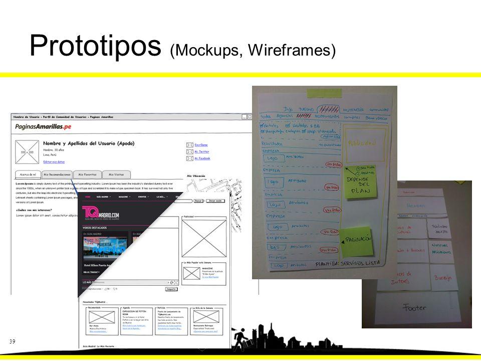 39 Prototipos (Mockups, Wireframes)
