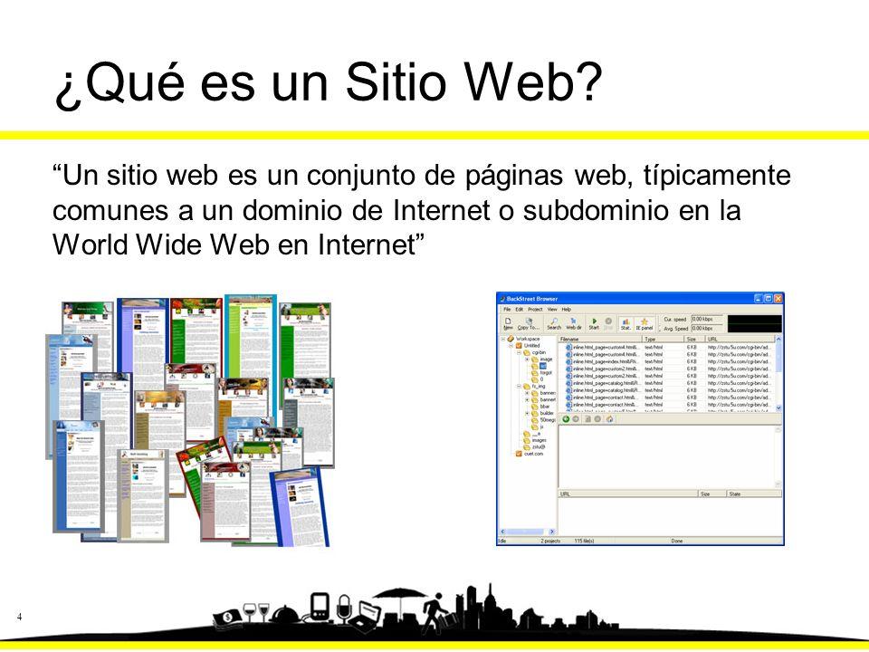 4 ¿Qué es un Sitio Web.