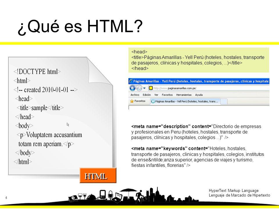 6 ¿Qué es HTML.