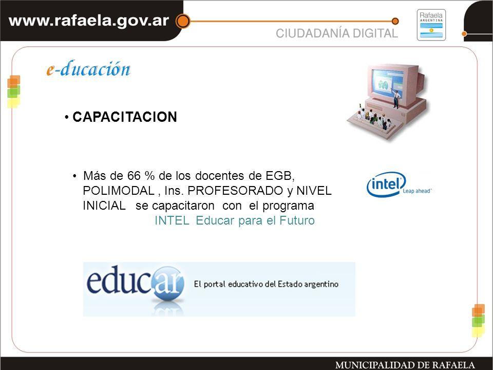 CAPACITACION Más de 66 % de los docentes de EGB, POLIMODAL, Ins.