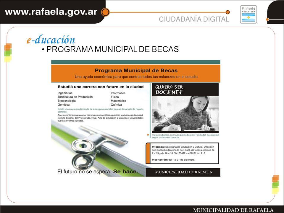 PROGRAMA MUNICIPAL DE BECAS