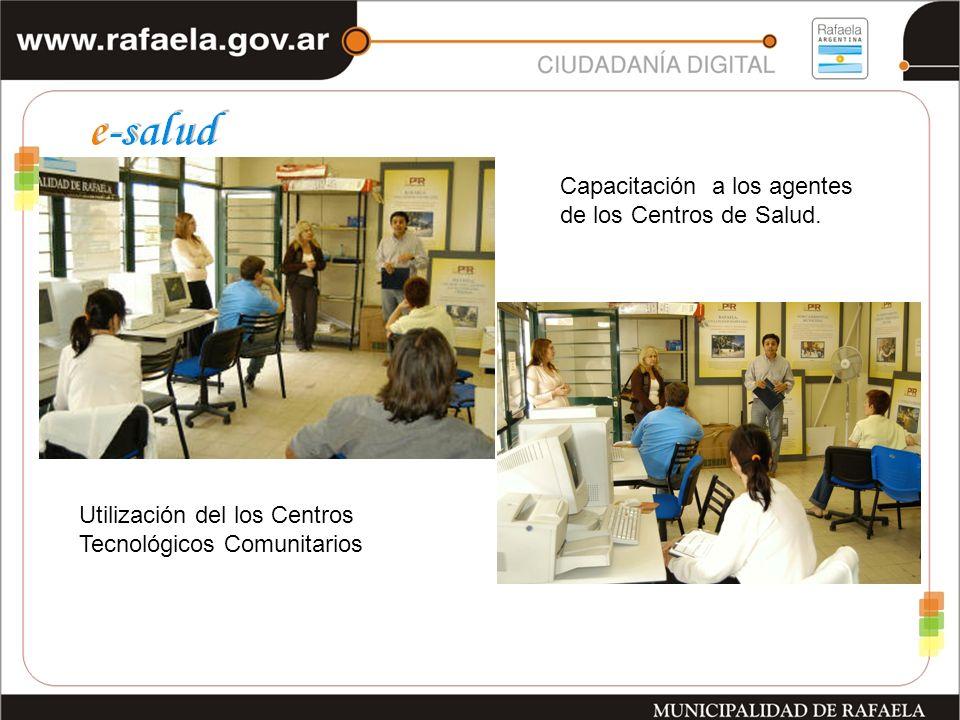 Capacitación a los agentes de los Centros de Salud.