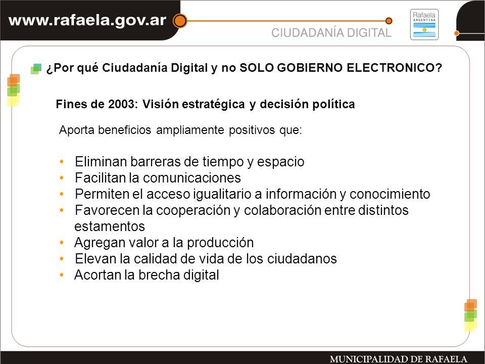 ¿Por qué Ciudadanía Digital y no SOLO GOBIERNO ELECTRONICO.