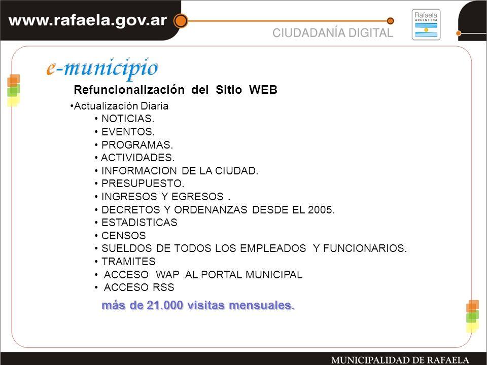Refuncionalización del Sitio WEB Actualización Diaria NOTICIAS.