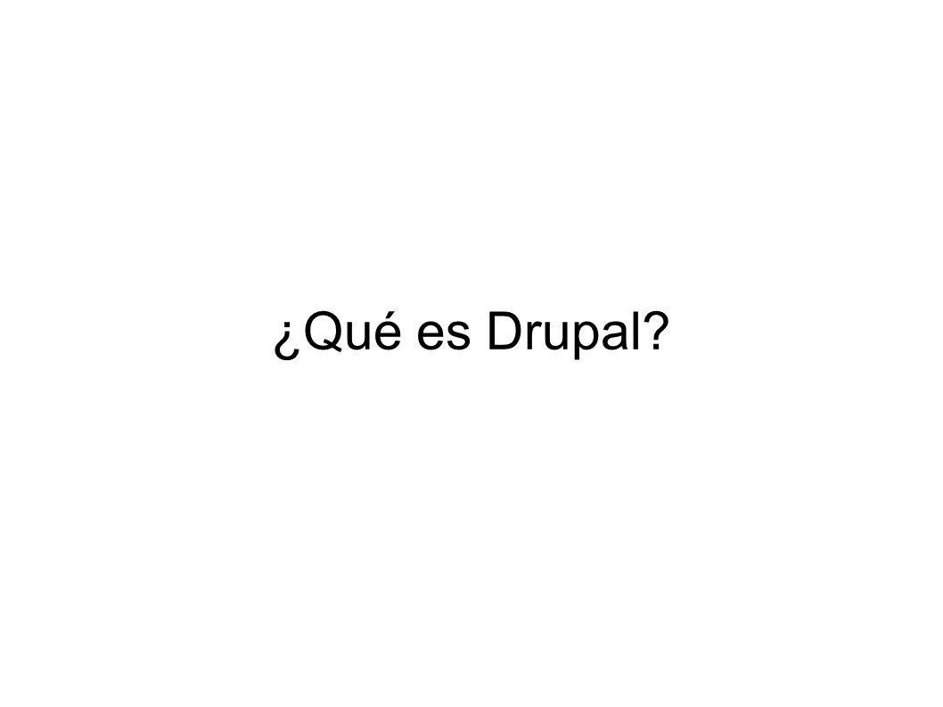 ¿Qué es Drupal